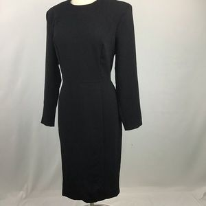 NWT ASOS Black Sheath Dress Size 14
